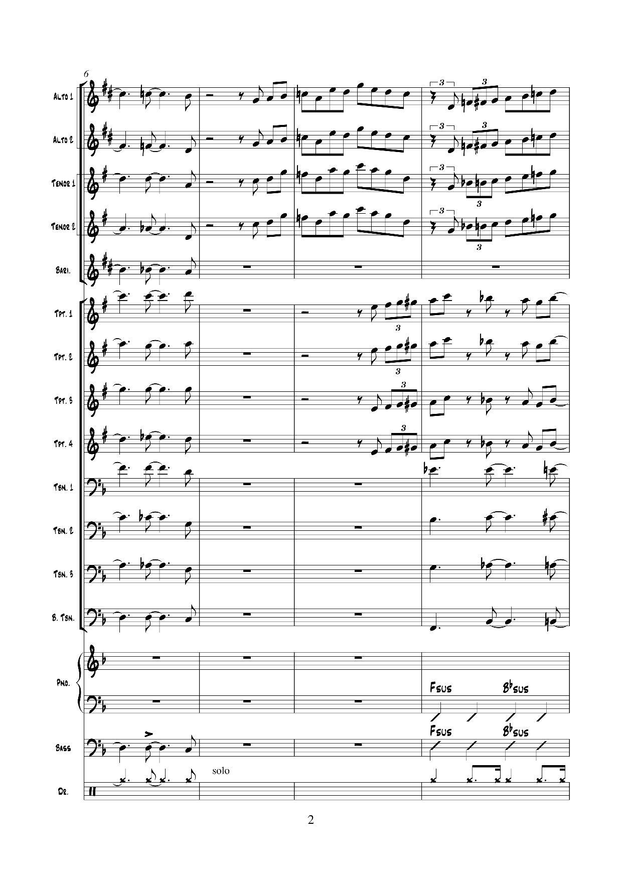 M.Davis Walking (arr.V.Vladimirov) page2